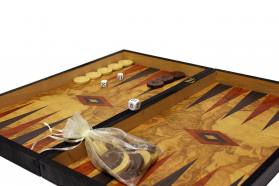 BACKGAMMON - CHESS REPLICA OLIVE