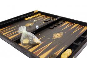BACKGAMMON - CHESS REPLICA WALNUT CASES