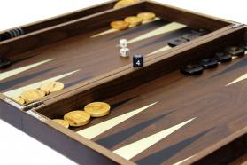 BACKGAMMON  LUXURY WALNUT CASES
