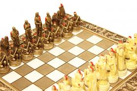 CERAMIC CHESS BOARD TROJAN WAR