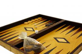 BACKGAMMON-CHESS OLIVE TRUNK