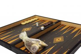 BACKGAMMON-CHESS REPLICA WALNUT