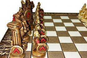 CERAMIC CHESS BOARD SPARTANS