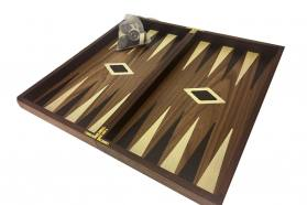 BACKGAMMON-CHESS WALNUT WOOD