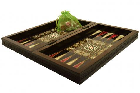 BACKGAMMON-CHESS WALNUT LEATHER