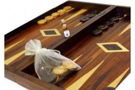 BACKGAMMON MAHOGANY WOOD