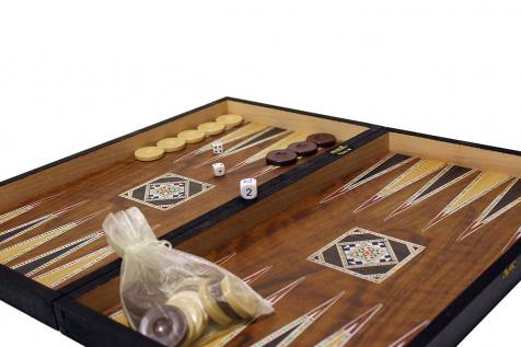 BACKGAMMON-CHESS REPLICA MOTHER OF PEARL