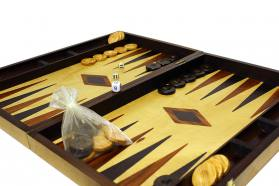 BACKGAMMON OLIVE TRUNK CASES